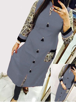 Picture of 2005 Grey Designer Cotton Kurti
