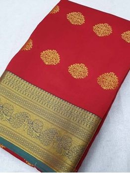 Picture of Red Designer Ethnic Wear Pure Silk Saree