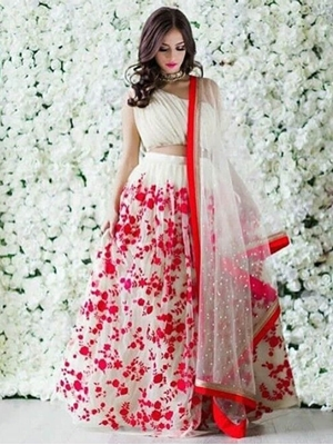 Picture of Designer Satin Raw Silk Lehenga Collection