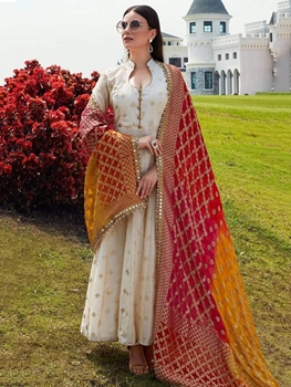 Picture of Off White Designer Salwar Suit Collection