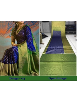 Picture of DURGA04 Designer Satin Gota Digital Print Saree