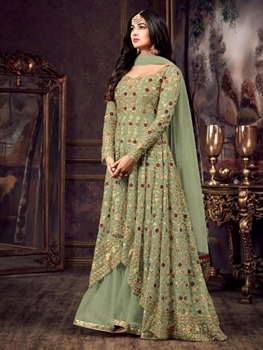 Picture of 5608 D Designer Anarkali Replica Suit