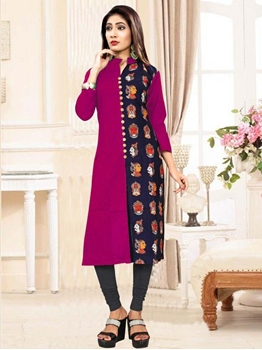 Picture of 3007 Rani Designer Heavy Slub XXL SIZE Cotton Kurti