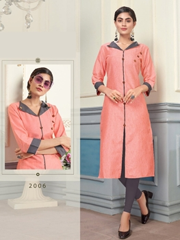 Picture of 2006 Khadi Slub Designer Kurti Collection