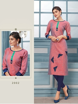 Picture of 2002 Khadi Slub Designer Kurti Collection