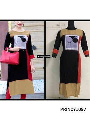 Picture of PRINCY1097 Princy Rayon Kurti Collection