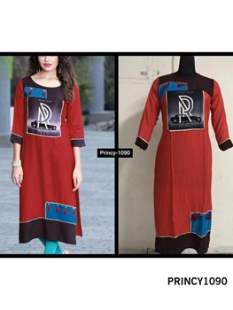 Picture of PRINCY1090 Princy Rayon Kurti Collection