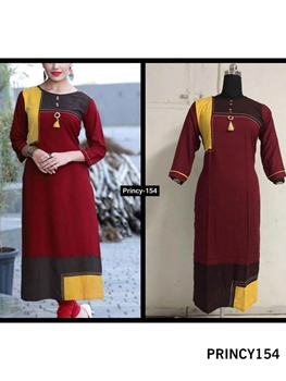 Picture of PRINCY154 Princy Rayon Kurti Collection
