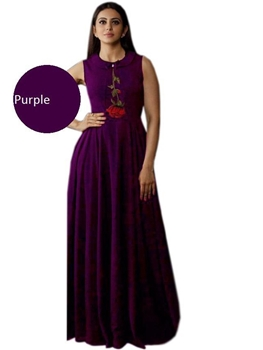 Picture of Purple Designer Western Wear Gown