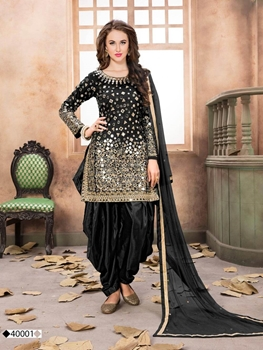 Picture of AANAYA40001 Taffeta Silk Patiala Suit