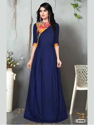 Picture of 2006 Blue Designer Long Gown