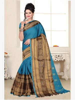 Picture of PEACOCK106 Designer Peacock Saree Collection
