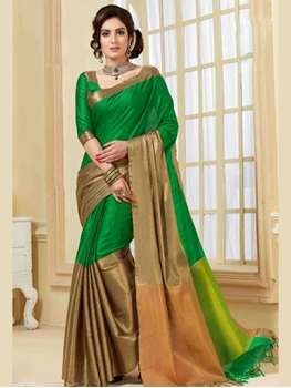 Picture of 20033 Green Fancy Designer Saree