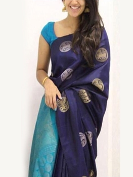 Picture of SAREE3 Satin Digital Printed Saree Collection