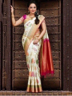 Picture of SAREE1 Satin Digital Printed Saree Collection