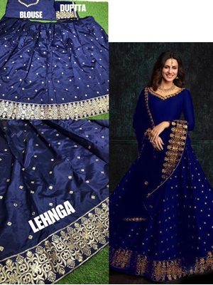 Picture of MC9065 Dark Blue Designer Lehenga Choli