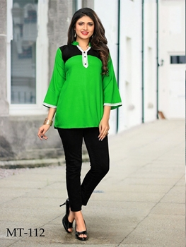 Picture of MT112 Green Designer Western Tops