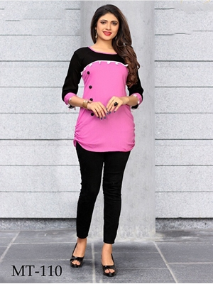 Picture of MT110 Pink Designer Western Tops