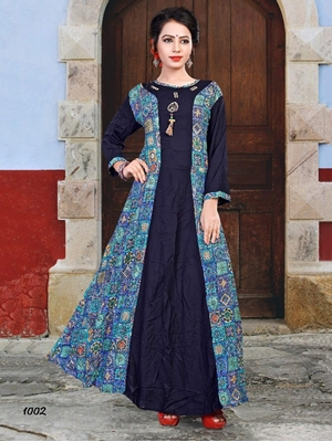 Picture of W1002 Designer Western Kurti And Gown