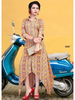 Picture of W1001 Designer Western Kurti And Gown