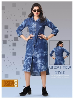 Picture of 10006 Denim Designer Western Wear Dress
