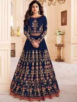 Picture of 8057 Blue Designer Anarkali Suit