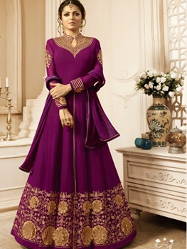 Picture of 2806 Dark Magenta Designer Ethnic Wear Anarkali Suit