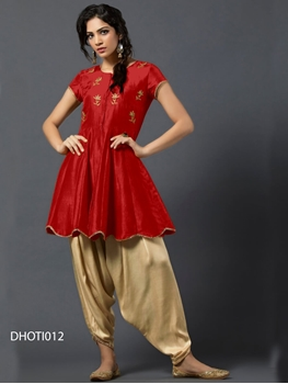 Picture of 012 Designer Dhoti Style Kurti Collection