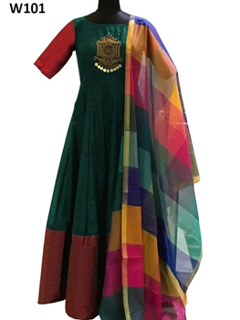 Picture of W101 Designer Khadi Western Wear Dress