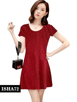 Picture of 72 Dark Red Designer Western Stitched Dresses