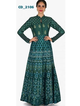 Picture of 2106 Rama Green Designer Stitched Kurti