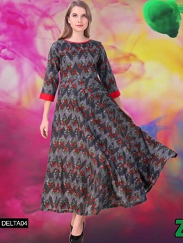 Picture of 04 Gray Rayon Organic Cotton Gown