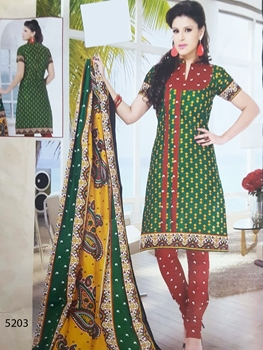 Picture of 5203 Green Designer Printed Salwar Suit