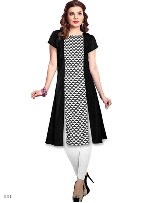 Picture of 111 Black Designer Party Wear Stitched Kurti
