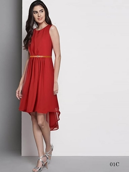 Picture of 01C Red Western Style Designer Dresses