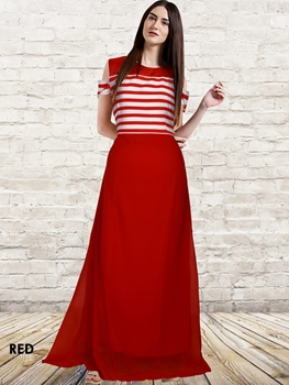Picture of Red Designer Western Wear Gown