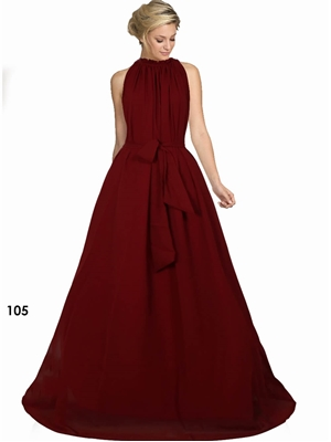 Picture of 105 Maroon Designer Western Wear Stitched Gown