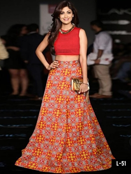 Picture of L51 Red Designer Lehenga Choli