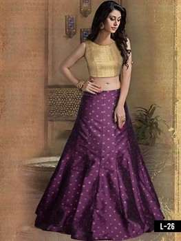 Picture of L26 Golden and Purple Designer lehenga Choli