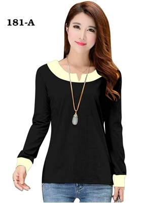 Picture of 181A Black Trendy Western Wear T Shirt
