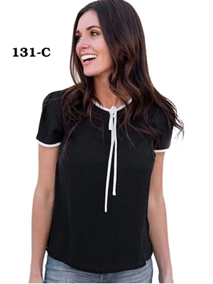 Picture of 131C Black Trendy Western Wear T Shirt