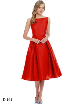 Picture of D104 Red Designer Western Wear Dress