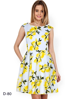 Picture of D80 Yellow Designer Western Wear Dress