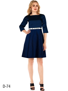 Picture of D74 Blue Designer Western Wear Dress