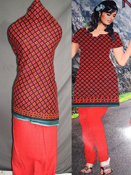 Picture of 112A Black and Red Printed Salwar Suit