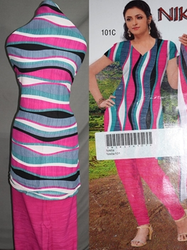 Picture of 101C Magenta and Multicolor Printed Salwar Suit