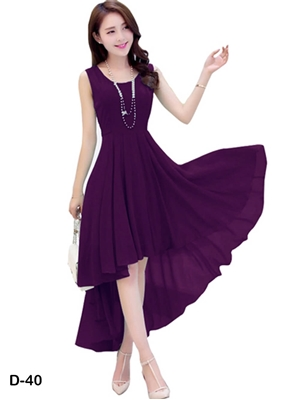 Picture of D40 Purple Designer Western Wear Dress