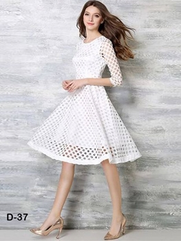 Picture of D37 White Designer Western Wear Dress
