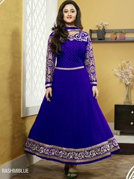 Picture of Blue Designer Georgette Anarkali Suit
