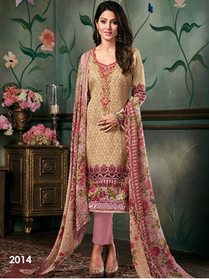 Picture of 2014 Designer Printed Pakistani Style Indian Suit